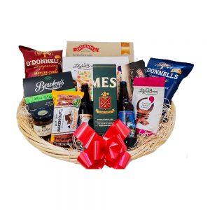 Platinum Whiskey Hamper in Basket